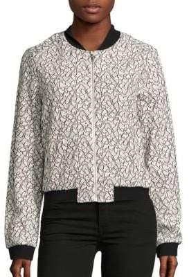 BCBGMAXAZRIA Knit Long Sleeve Jacket