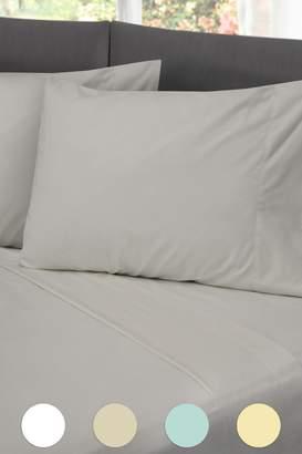 Rio Home Hotel Laundry Cotton Rich Sheet Set - Light Gray