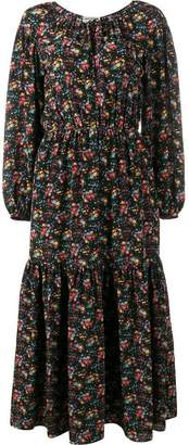 Saint Laurent floral print peasant dress