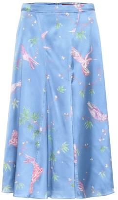 Altuzarra Caroline printed silk midi skirt