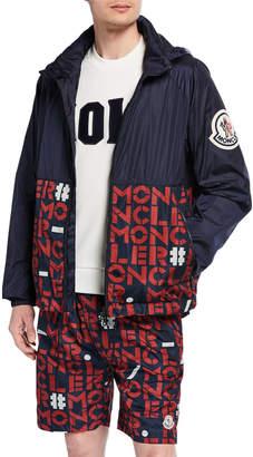 Moncler Genius Men's Octagon Logo-Print Zip-Front Jacket