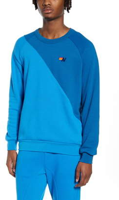 Aviator Nation Glider Colorblock Crewneck Sweatshirt