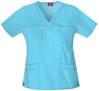 Dickies Women's Youtility Jr. Fit V-Neck Scrub Top