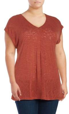 Bobeau B Collection by Plus Janet Textured Knit Top