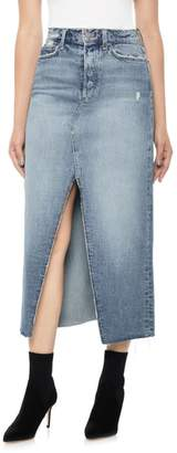 Joe's Jeans High Waist Long Denim Skirt