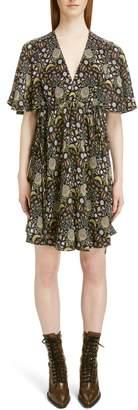 Chloé Blossom Print Georgette Dress