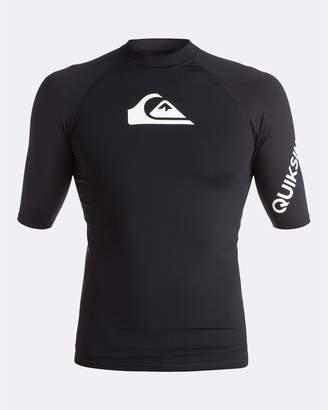 Quiksilver Mens All Time Short Sleeve UPF 50 Rash Vest