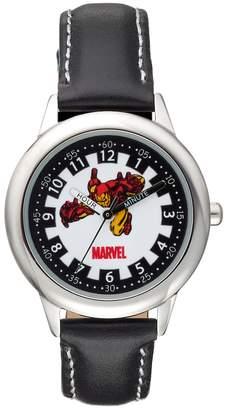 Iron Man Kohl's Marvel Boy's Leather Time Teacher Watch