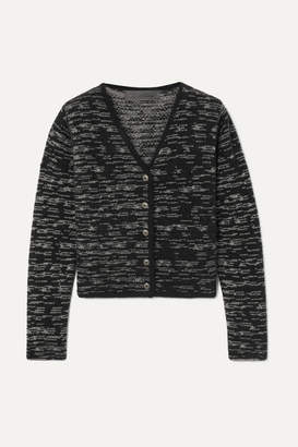 The Elder Statesman Cropped Cashmere Cardigan - Black