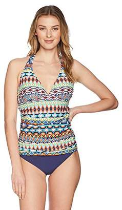 Ellen Tracy Women's Tankini Swimsuit Top with Keyhole Cut-Out