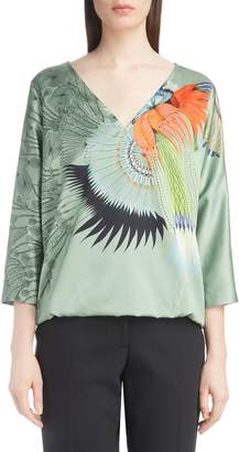 Dries Van Noten Placed Print Top