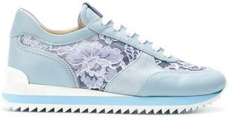 Le Silla lace-panelled sneakers