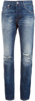 Levi's distressed straight jeans $168 thestylecure.com