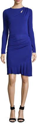 Roberto Cavalli Women's Flounce Hem Sheath Dress