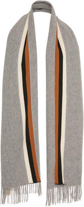Donni. Racer Color-Block Wool-Blend Scarf