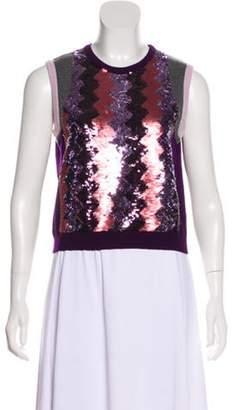 Giambattista Valli Cashmere Knit Top Purple Cashmere Knit Top