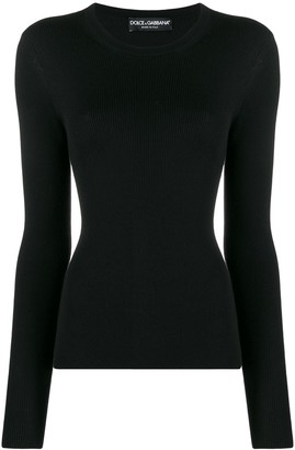 Dolce & Gabbana ribbed fitted long-sleeved top