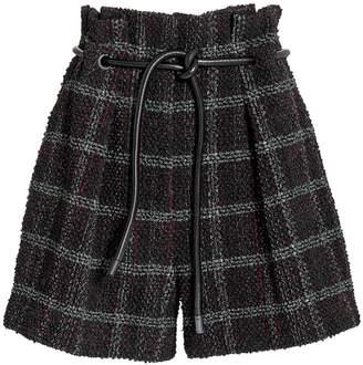 3.1 Phillip Lim Origami Textured Tweed Short