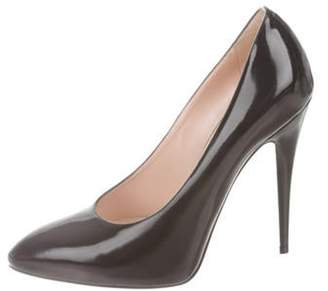 Gucci Leather Pointed-Toe Pumps Black Leather Pointed-Toe Pumps