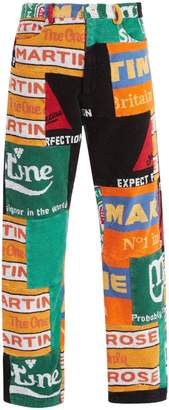 Martine Rose Beer mat-print patchwork trousers