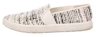 Vince Embossed Leather Sneakers