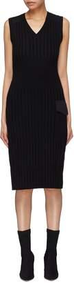 Neil Barrett Cargo pocket wool rib knit sleeveless dress