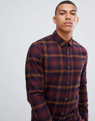 ONLY & SONS slim fit flannel check shirt