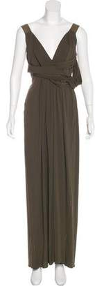CNC Costume National Draped Maxi Dress