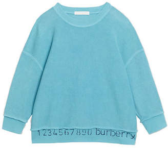 Burberry Gerome Logo & Numbers Long-Sleeve Knit Top, Size 3-14