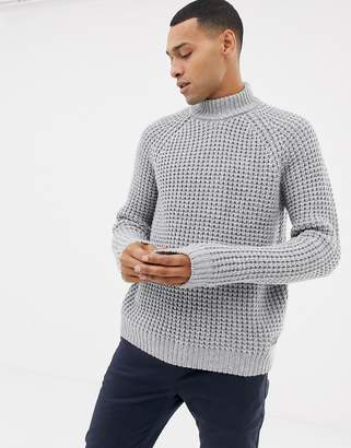 Esprit chunky waffle turtleneck sweater in wool blend