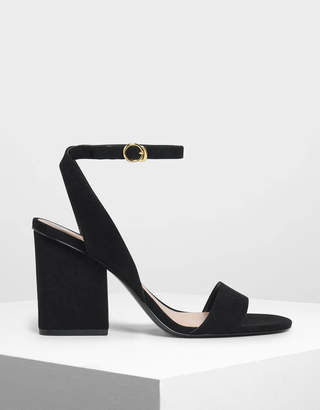 Charles & Keith Ankle Strap Block Heel Sandals