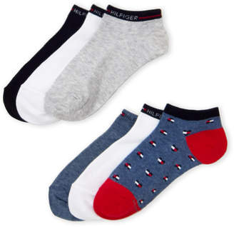 Tommy Hilfiger 6-Pack Heart Logo No-Show Socks