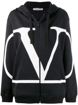Valentino go logo zip-front hoodie