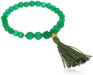 Satya Jewelry Mala Bracelets Green Onyx Charm Bracelet