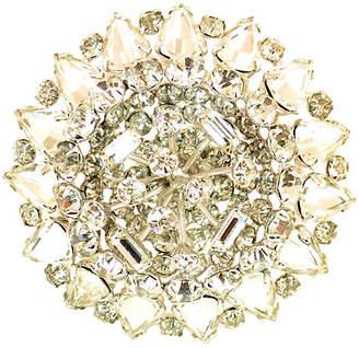 One Kings Lane Vintage 1950s Domed Crystal Flower Brooch - Neil Zevnik