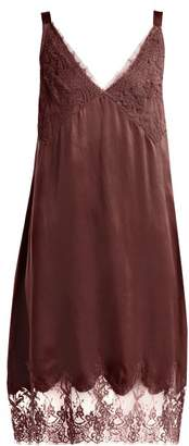 Icons Art Marigold Silk Slip Dress - Womens - Burgundy