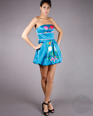 Voom Flora Tube Dress in Blue