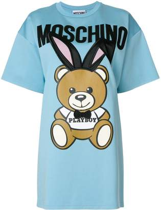 Moschino Playboy Toy Bear T-shirt dress