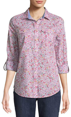 ST. JOHN'S BAY Relaxed Fit Long Sleeve Button-Front Shirt