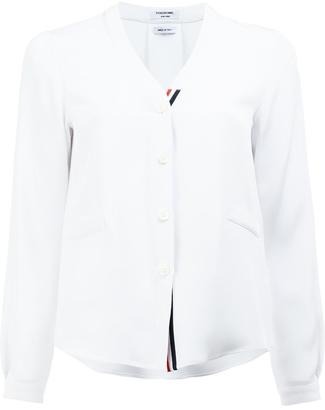 Thom Browne V-neck shirt $980 thestylecure.com