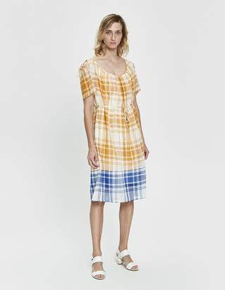 Araks Tierra Two-Tone Plaid Dress