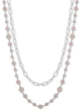 Lauren Ralph Lauren Rose Quartz Chain Necklace