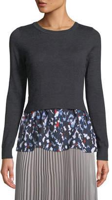 Club Monaco Azamik Layered Wool Long-Sleeve Sweater
