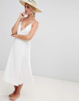MinkPink Sienna Wrap Beach Dress