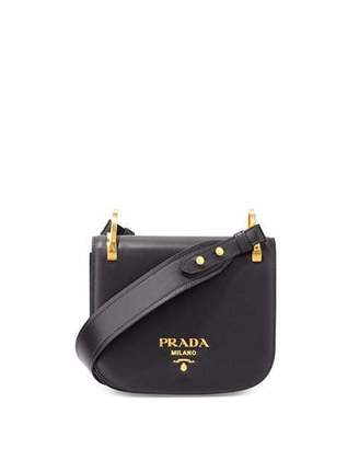Prada Pionnière Leather Shoulder Bag, Black (Nero) $1,940 thestylecure.com
