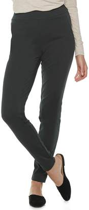 Elle Women's Pull-On Skinny Ponte Pants