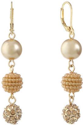 MONET JEWELRY Monet Jewelry Brown Drop Earrings