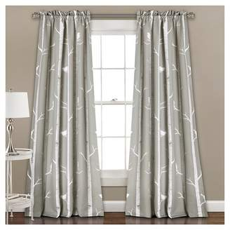Lush Decor Bird on the Tree Room Darkening Window Curtain Set