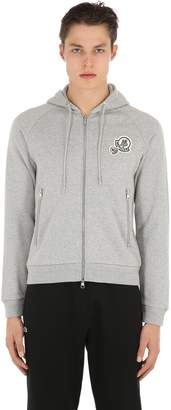 Moncler Logo Zip-Up Cotton Sweatshirt Hoodie