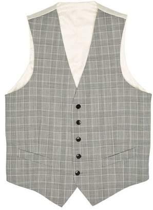 Original Penguin Black White Plaid Vest